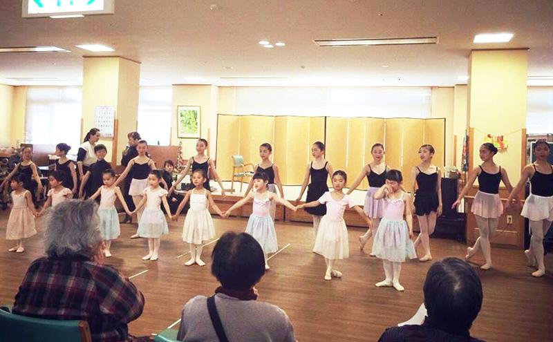 プティバレエスタジオのアウトリーチ活動