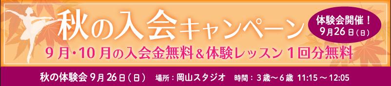 秋の入会キャンペーン&体験会のお知らせ